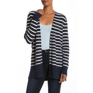 MADEWELL Cozy Walker Navy White Striped Wool Blend